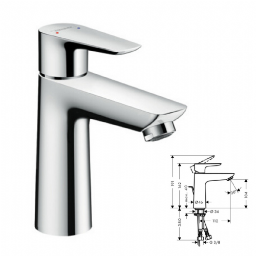 Hansgrohe Talis E110 Basin Mixer In Chrome - Model Number 71710000